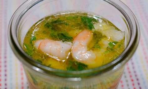 Crevettes marinées à l'orange et à la coriandre