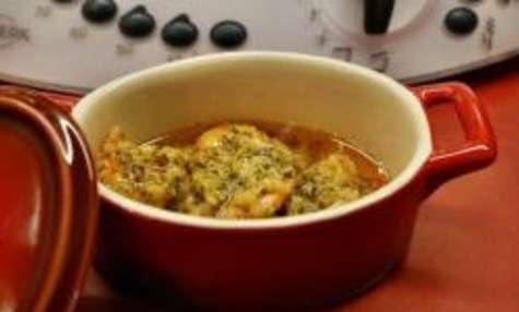Langoustine au beurre à l'ail et au piment d'Espelette au thermomix