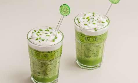 Soupe froide concombre et menthe