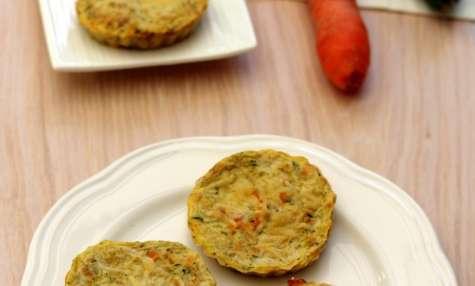 Quiche sans pâte à la courgette et carottes râpées