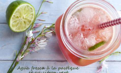 Agua fresca à la pastèque et au citron vert