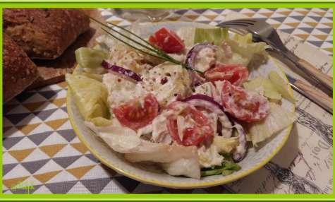 Salade de pomme de terre à la crème de brandade de morue
