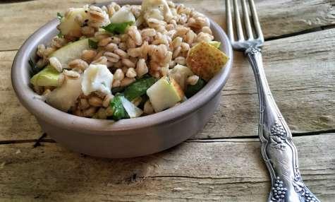 Salade de petit épeautre aux poires et gorgonzola