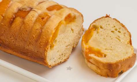 Gâteau du matin aux abricots et à la vanille