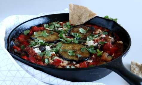 Shakshuka vegan aux aubergines