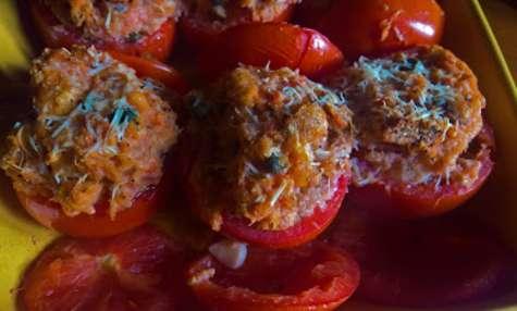 Tomates farcies sans viande