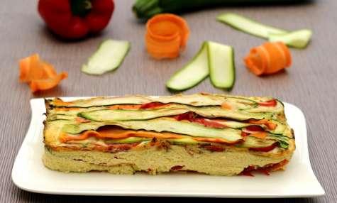 Terrrine de tagliatelle de légumes façon flan