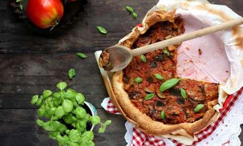 Tarte tomate, courgette et aubergine