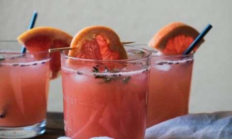 Gin fizz lavande et pamplemousse