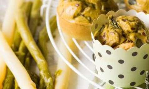 Muffins printaniers aux asperges