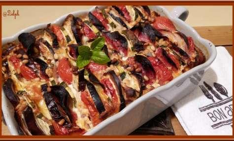 Clafoutian aux légumes du soleil et chorizo