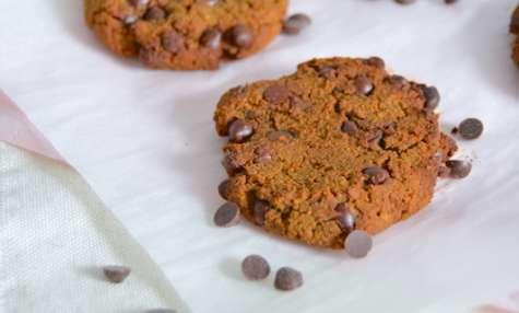 Cookies sans farine aux pois-chiches et chocolat noir