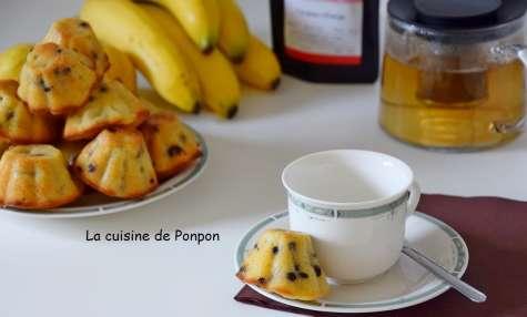 Muffin à la banane, poire et lait de coco