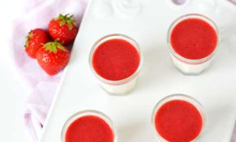 Panna Cotta vanille fraise