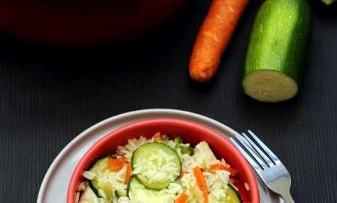 One pot rice poulet, courgettes et carotte