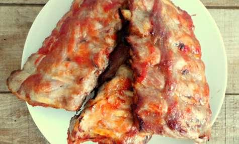 Travers de porc marinés au sirop d'érable