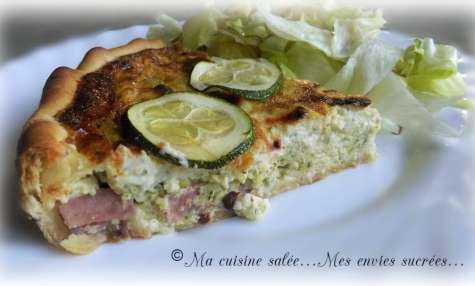 Quiche jambon , courgettes & boursin®