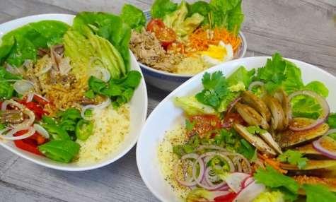 Buddha bowl Vegan, au poulet et au thon