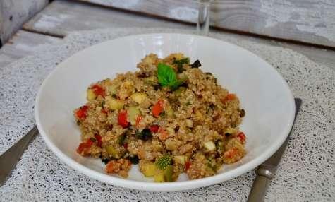 Poêlée de quinoa et aux légumes