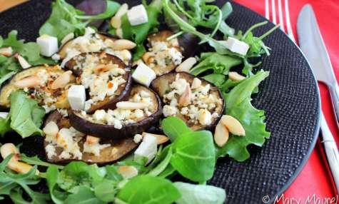 Salade d'aubergines au miel et à la féta