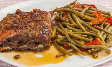 Travers de porc aux épices et cuit à basse température