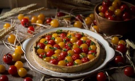 Tarte aux tomates cerises