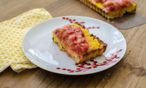 Tarte à la rhubarbe et fraise