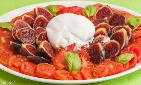 Salade caprese aux figues