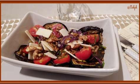 Salade de petit épeautre aux légumes grillées