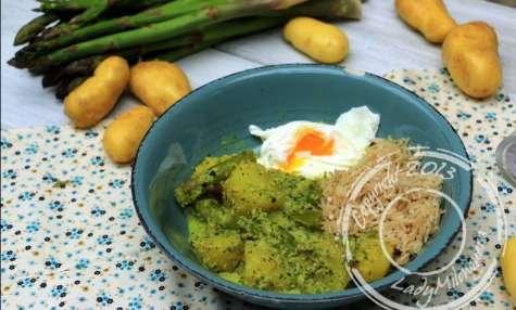 Curry vert d'asperges et pommes de terre nouvelles