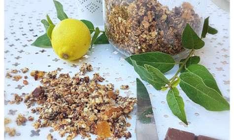 Granola maison bio citron, gingembre, chocolat lait