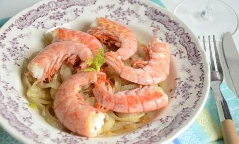 Crevettes au fenouil