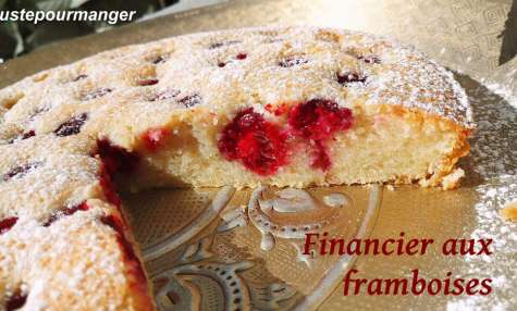 Financier aux framboises