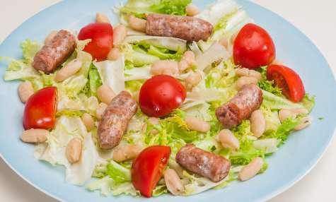 Salade de mogettes aux saucisses au muscadet