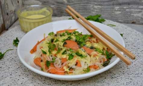 Salade de vermicelles au saté
