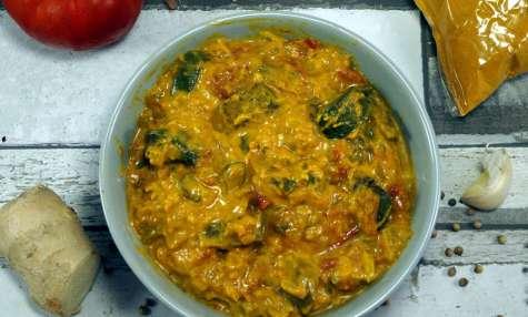Curry d'aubergines au lait de coco