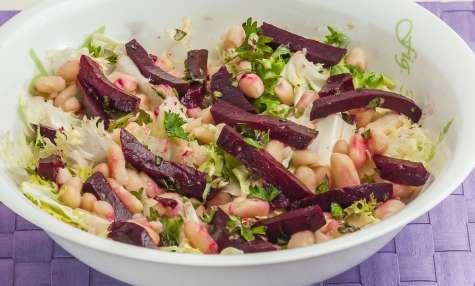 Salade de mogettes et betteraves
