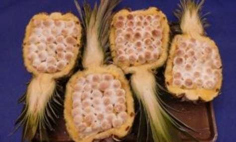 Gratin d'ananas à la crème légère bourbon