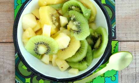 Salade de kiwis et pommes au gingembre