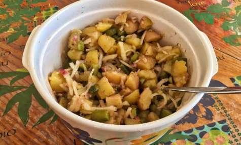Salade de pommes de terre, oignons et cornichons