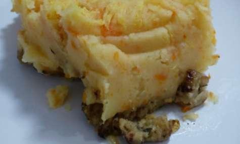 Hachis parmentier végan : purée pomme de terre carotte et hachis de seitan – Les bêtises de Nonette