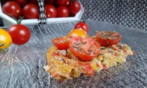 Pizza healthy aux poivrons et son d'avoine