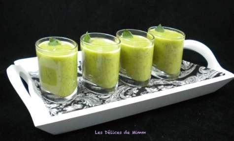 Velouté courgette-menthe en petites verrines
