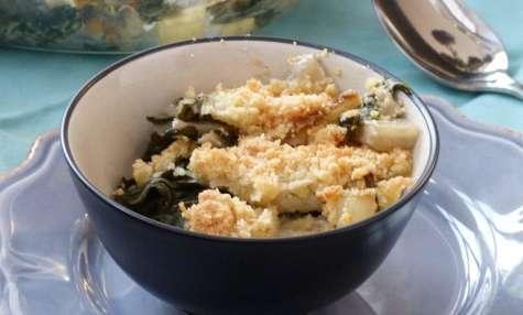 Crumble de blettes au parmesan