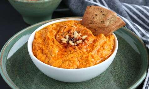 Hummus de carottes rôties au curcuma