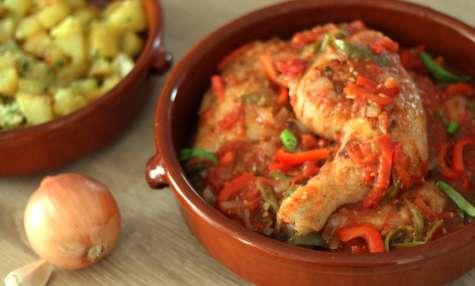 Poulet basquaise traditionnel