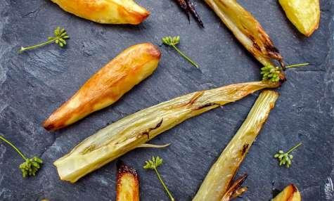 Fenouil et pommes de terre au four confits au citron