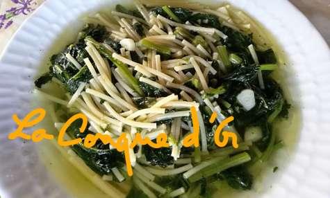"Soupe de petits spaghettis aux ""cime di rapa"""