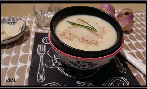 Crème de navet au parmesan