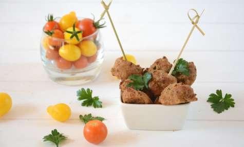 Falafels de tofu fumé aux fines herbes et au four